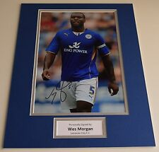 Wes Morgan SIGNED autograph 16x12 photo display Leicester City FC AFTAL & COA