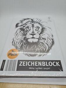 3er Pack Zeichenblock