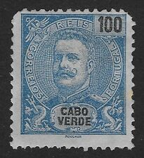 CAPE VERDE King Carlos I Stamp1898-1901 100R E6X)