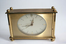 Mauthe Mantel Brass Alarm Clock - Germany Made - Working