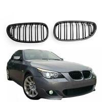 Glossy Front Grille de calandre ABS Pour 04-2009 BMW E60 E61 M5 520i 530i  Nr
