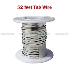 52' 16M 2mm Width Tabbing Wire Solder Covered for Solar Panel Cells DIY Kit