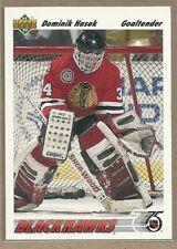 Dominik Hasek 1991-92 Upper Deck #335 BLACKHAWKS ROOKIE RC Hockey Card