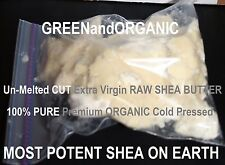 MOST POTENT RAW SHEA BUTTER ON EARTH Organic Un-Melted Cut-Packed Bag 15 to 16oz
