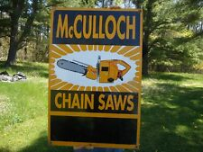 "1953 McCULLOCH CHAIN SAW Logging Tool Chainsaw Metal Sign 9x12/"" A351"