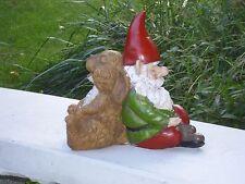 Concrete / Cement Statue Mold Back To Back Gnome And Rabbit Latex / Fiberglass