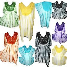Tie Dye Holiday Summer Plus One Size Tunic Kaftan Beach 22 24 26 28 30 32 34