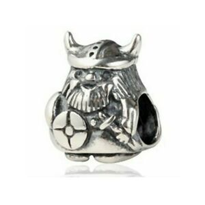 💖 Viking Warrior Genuine 925 Sterling Silver Charm Bead Fits European Bracelet