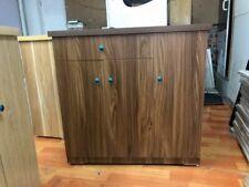 brown multi-purpose household closet