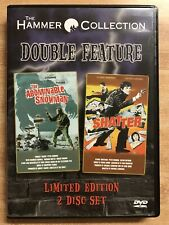 The Abominable Snowman/Shatter 2-Pack (Dvd, 2003, 2-Disc Set) Like New !