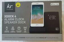 KitSound XDock 4 Alarm Clock,Speaker Dock