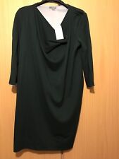 COS, New   Tags, Forest Green dress, side drape, Medium (12 or 14)