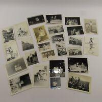 Estate Lot of 25 Vintage Photographs Black & White Photos Mid Century Pictures