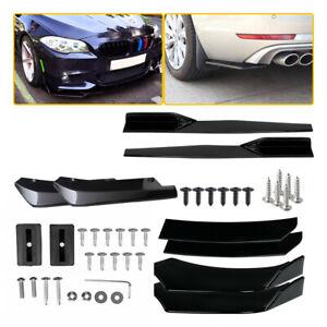 Universal Car Front Bumper Lip Spoiler Body kit +75cm Side Skirts Rocker Panel