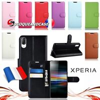 Etui coque housse XL COLORS Cuir PU Leather case cover skin pour Sony XPERIA L3