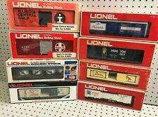 8pc Lot LIONEL Vintage Freight Cars Camel Box Car Beer Reefer Vat Salt Hopper
