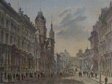 San Francisco, California street avec bourse-antique couleur-Lithographie -? pour 1870