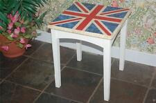 Shabby Chic Union Jack Occasional Table - Coffee Table - Decopatch - Decoupage