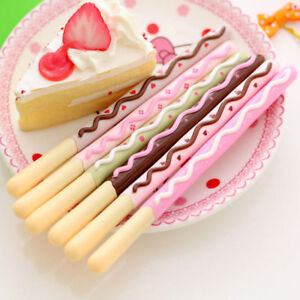 4 Pcs 0.5mm Korean Cute Kawaii Chocolate Cake Gel Pen Sign Child School Office