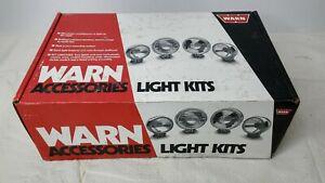 NOS WARN 220612 4X 6IN SPOTLIGHT KIT BLACK LIGHT COVERS JEEP OFF-ROAD ATV UTV