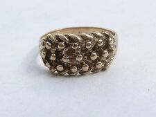 SUPERB VINTAGE SOLID 9CT GOLD KEEPER RING SIZE S 19.15MM DIA 3.7 GRAMS