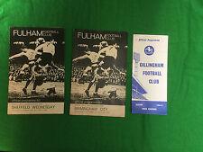 job lot of (3) season 1964 1965 football programmes 2 x Fulham 1 x Gillingham