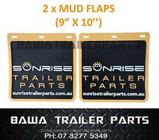 "A Pair of Mud Flaps 9"" x 10"" - Trailer Parts !"