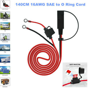 140CM 16AWG SAE to O Ring Cord 12-24V SAE Connect Cable Adapter Battery Charging
