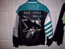 San Jose Sharks Jeff Hamilton Leather Jacket  NHL XL