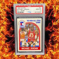 🔥 1989 Hoops #21 All-Star🔥 Michael JordanPSA 10 GEM MT Bulls HoF GOAT🔥