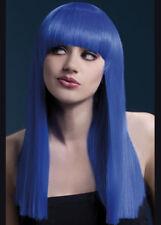 Ladies Long Neon Blue Fever Alexia Wig