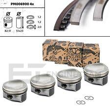 4x Kolben Satz STD Bolzen DN 23 mm AUDI SEAT SKODA VW 1,8 TSI CDAA 06H107065DL