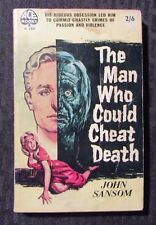 1959 THE MAN WHO COULD CHEAT DEATH by Jon Sansom 1st Ace H280 Paperback VG-