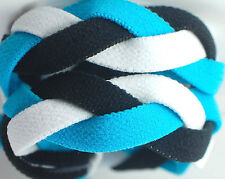 NEW! Light Blue Black White Grippy Band Headband Hair Sport Soccer Softball