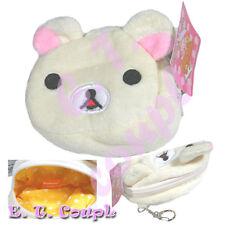 San-X Korilakkuma Lazy white bear money coin plush bag