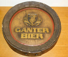 vintage PLAQUE BIERE GANTER bier Atelier Zillich Monatshausen German beer BARREL