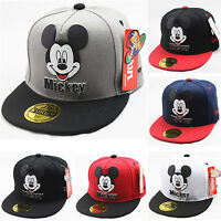 Toddler Kids Boy Girl Mickey Hip Pop Baseball Cap Adjustable Snapback Hat Sun