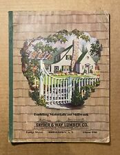Building Materials and Mill Work from Snyder & Way Lumber Co. Catalog