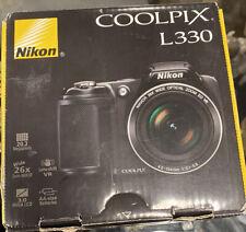 Nikon COOLPIX L330 20.2MP Digital Camera - Black. Near Mint Condition!