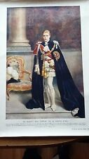 1936 LONDON ILLUSTRATED NEWS H.M. KING EDWARD VIII PORTRAIT WATER COLOR