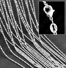 "10 X 1.2mm 925 Silver 22"" Bamboo Chain Ladies Women's Necklace Wholesale"