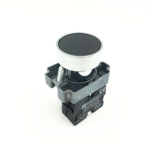 1pcs XB2 BA21 Black Sign Self-Reset Momentary Flush Pushbutton Switch 1 NO 22mm