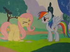 My Little Pony FiM - 'Fluttershy's Yay' Rainbow Dash & Fluttershy Artwork NEW