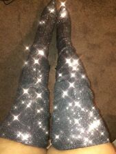 Topshop Bellini Stretch Glitter Over Knee Boots UK 6 (39) Sold Out.....
