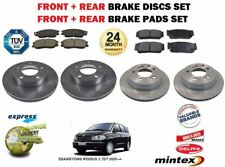 FOR SSANGYONG RODIUS 2.7DT 2005--> FRONT & REAR BRAKE DISCS AND DISC PADS KIT
