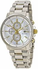 Citizen Eco-Drive Women's FB3004-58 Chronograph Mother of Pearl Dial 42mm Watch