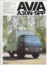 N°8522 / dépliant camion AVIA A30N-SPP tchecoslovaquie base RENAULT