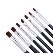 7 Pcs Acrylic Painting Pen UV Gel Drawing Brushes Flat Brush Set Nail Art Tools