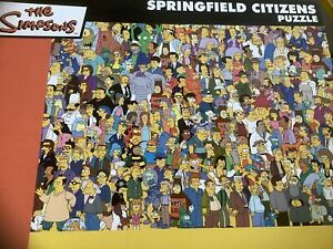 The Simpsons Jigsaw 750 Piece Springfield Citizens.This Is The Good One.