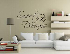 Sweet Dreams Bedroom Art Vinyl Wall Sticker Mural Decal Home Decor UK pq164